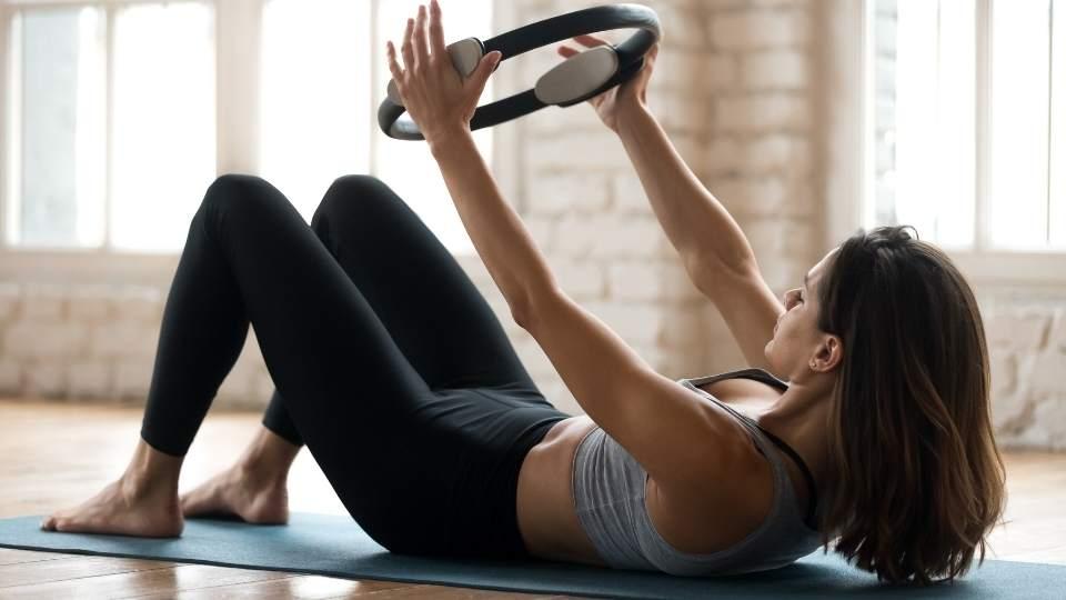 Woman doing pilates Herniated disc